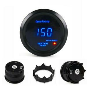 2 52mm Blue Led Digital Water Temp Gauge Centigrade Temperature Meter Tint Lens