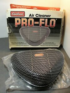 New Edelbrock 1002 Edelbrock Holley Pro Flo Triangle Air Cleaner