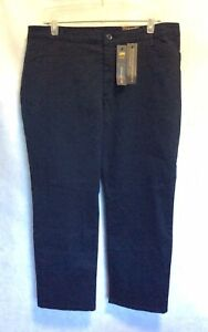 LEE All Day Effortless Wash amp; Wear Relaxed Fit Straight Leg Navy Blue 16 Petite $19.99