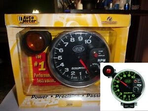 Autometer 3899 Gs Series 5 Monster Tachometer With Shift Light Pedestal 10k Rpm