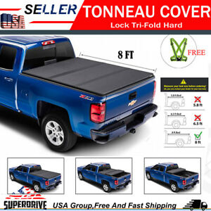 For 2019 2020 Dodge Ram 1500 6 4 Ft 76 8 Bed Tri Fold Hard Solid Tonneau Cover