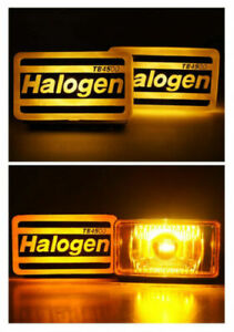 Universal Yellow Fog Light Spot Lamp H3 12v 55w Adjustable Fit All Car Ae86 Aw11