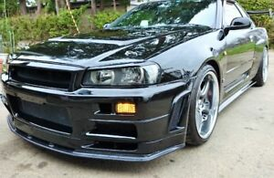Nismo Led Front Turn Signal Light Set For Nissan Skyline R34 Gtr Gtt Smoke Lens