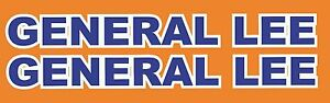 General Lee One Pair Roof Text Decal Dukes Of Hazzard Bicycle Decals Stickers