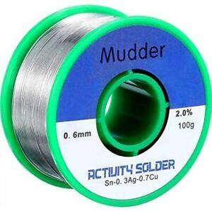 Mudder Lead Free Solder Wire Sn99 Ag0 3 Cu0 7 With Rosin Core For Electrical So