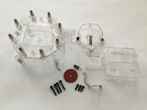 Fit Clear Chevy Pontiac Buick Olds V8 Hei Performane Cap Rotor Coil Kit