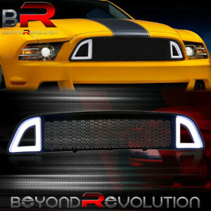 For 2013 2014 Mustang Base Gt Front Upper Grille Led Drl Light Bar Replacement