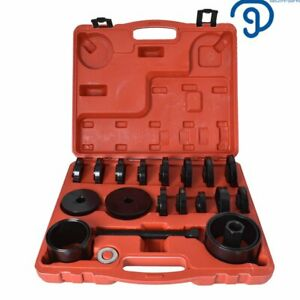 Front Wheel Drive Bearing Removal Adapter Puller Pulley Tool Kit 23pc