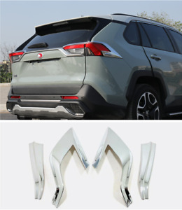 Abs Chrome Accessories Rear Tail Lamp Light Cover Trim For Toyota Rav4 2019 2021