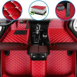 Floor Mats For Dodge Charger 2006 2013 Waterproof Non Slip Full Coverage Red