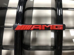 Amg Letters Emblem Badge For Mercedes Benz C class W205 W204 Gtr Grill