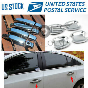 Door Handle Covers Bowls Chrome For 2010 2011 2012 2013 2014 2017 Buick Regal