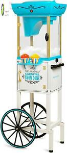 Nostaia Inch Tall Snow Cone Cart Metal Scoop Makes 48 Icy Treats Includes Stor