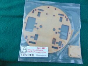 Pololu Robot Chassis Rrc01a Transparent Red 251