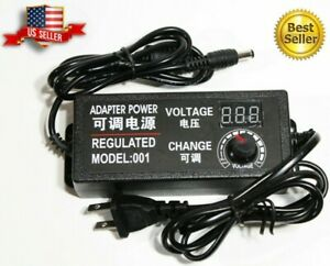 9 24v Voltage Variable Adjustable Ac dc Power Supply Adapter Display