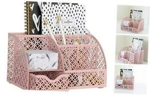 Light Pink Desk Organizer Cute And Girly Pink Desk Accessories Office Storag