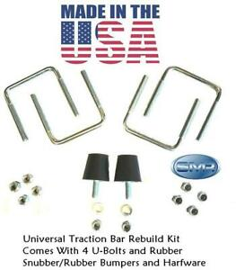 Traction Bar Lakewood Rubber Snubbers Bumper U bolt U Bolt Rebuild Kit Usa Made
