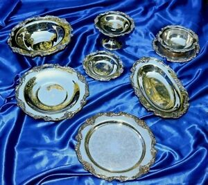 Reed Barton Silverplate King Francis 19 Serving Pieces Check It Out
