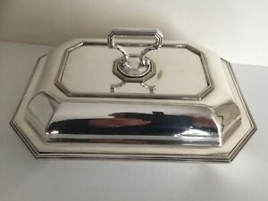 Antique Victorian Silver Plate Octagonal Tureen Serving Dish With Lid 3
