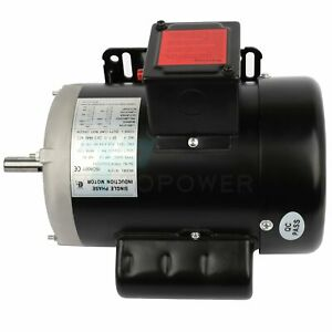 1 2 Hp Electric Motor For Air Compressor Single Phase 3450rpm 60hz 208 230v