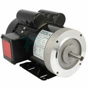 5hp Electric Motor For Air Compressor Single Phase 3450rpm 60hz 208 230v