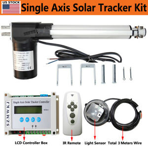 1kw Solar Tracking Tracker Electric 6000n 8 12v Linear Actuator lcd Controller