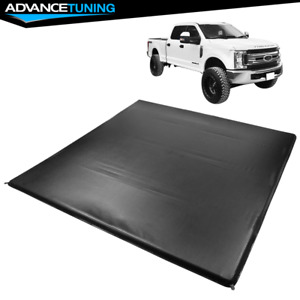 Fits 17 20 Ford F250 F350 Super Duty 6 8 Ft Truck Bed 4 Fold Led Tonneau Cover