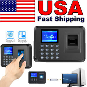 2 4 Lcd Fingerprint Scanner Employee Attendance Time Clock Check In Out Machine