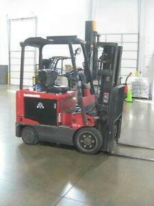 Raymond Dsd50r 5 000 Lb Electric Forklift 3 Stage Mast Reconditioned Battery