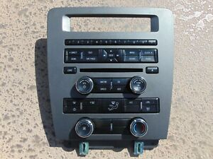 10 14 Ford Mustang Center Dash Radio Stereo Climate Control Trim Bezel Oem