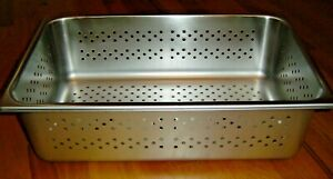 4 Stainless Steel Perforated Pan Steam Table Restaurant Kitchen Catering Hotel