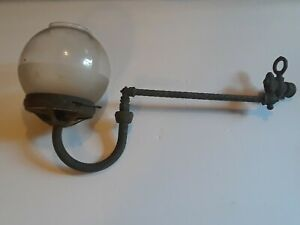 Antique Victorian Wall Gas Light Sconce W Glass Globe 1800s