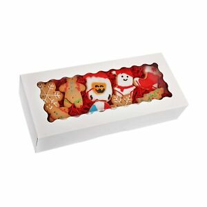 20 pack Cookie Boxes With Window 12 5 X 5 5 X 2 5 White Bakery Boxes Au