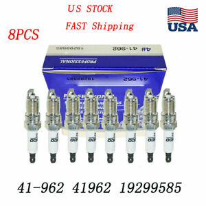 8pcs Platinum Spark Plugs Acdelco 41 962 For Chevrolet Buick Gmc 19299585 41962