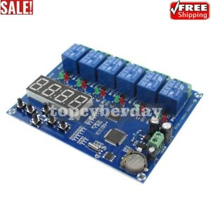 Time Relay Controller Module Timer 5 Channel Relay Control Board 12v Xh m194 New