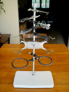 Vintage Fisher Chemistry Lab Stand Or Retort Stand With Porcelain Base