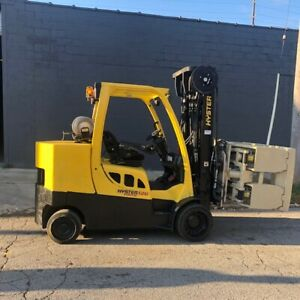 2010 Hyster S120ftprs 12000lbs Used Forklift W triple Mast Roll Clamp