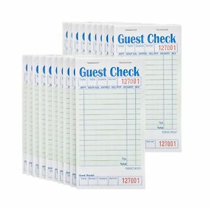 Stock Your Home Guest Check Book 20 Books 3 5 X 6 75 Server Notepads And
