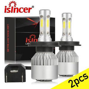 Isincer H4 9003 Led Headlight Bulbs Conversion Kit High Low Beam Replace Halogen