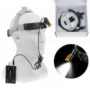 Dental Surgical 5w Led Headlight Lamp With Filter Leather Headband Dy 007 h Ce