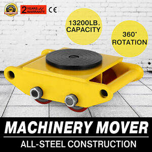 Machinery Mover Machine Dolly Skate Machinery Roller Mover Cargo Trolley 6 Ton