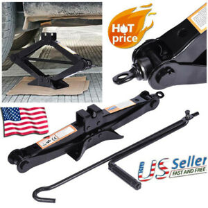 2 Ton Wind Up Scissor Jack Lift For Auto Car Van Handle Speed Garage Emergency
