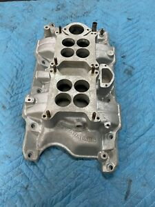 Dodge Mopar 318 340 360 Offenhauser Dual Quad Intake Two Four Barrel