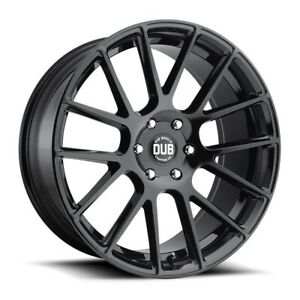 Set Of Four Dub Wheels S205 Luxe 20x9 6x135 30 Gloss Black