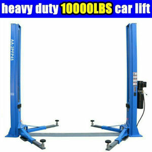 2 Post Lift Car Auto Truck Hoist Floor Plate Auto Ramp 10 000 Lb Capacity 220v