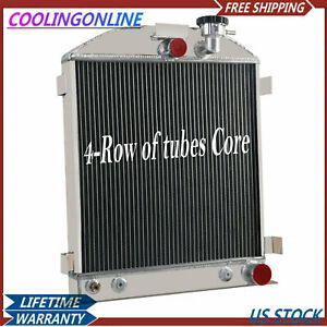 4 Row Aluminium Radiator For Chevy engine Ford grill shells 3 chopped 1939 1940