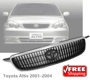 New Front Chrome Hood Grille Grill Fit For Toyota Corolla Altis 2001 02 03 2004