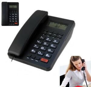 Home Corded Standard Phone Single line Lcd Display Telephones White black