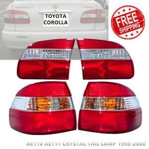 New Toyota Corolla Ae110 Ae111 Rear Crystal Tail Lights Lamps W Reflector 98 00
