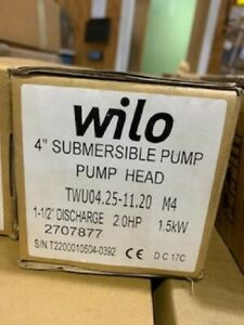 Wilo Submersible Pump End 4 2hp 230v 1ph 25gpm 2707877